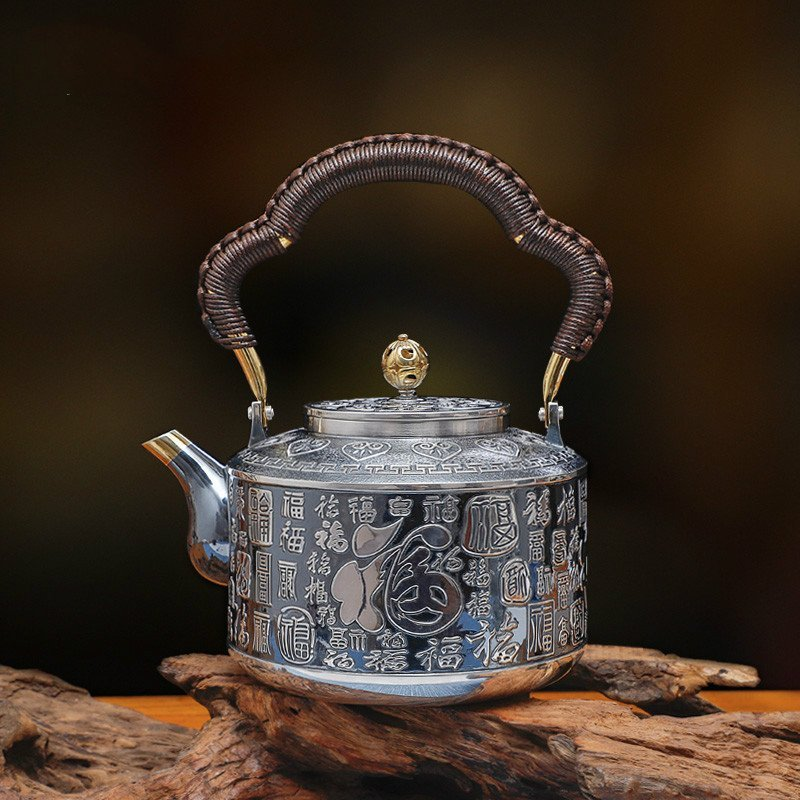 Exquisitely Decorated Yongxing Silver Teapot